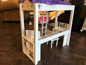 Fun doll bed with desk