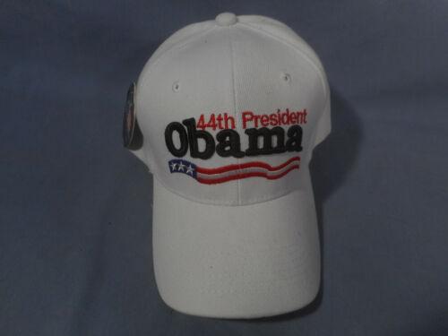 Vintage White 44TH President Obama Adjustable Baseball Hat