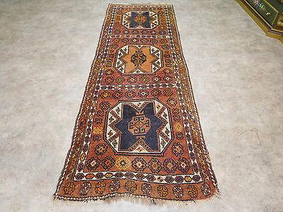 ANTIKER Teppich Handgeknüpfter Türkische Kazak * 250 x 87 cm