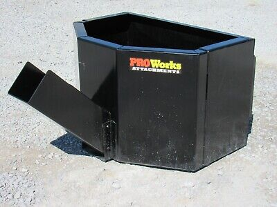 Concrete Dispensing Bucket Attachment Fits Skid Steer Loader 58 Cubic Yard