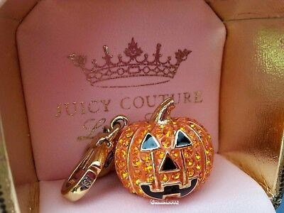 Juicy Couture 2012 Lt Ed Pave Jack O Lantern Pumpkin Charm Halloween In - Couture Halloween