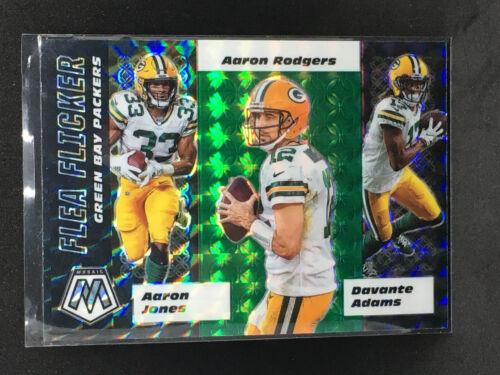 2020 Panini Mosaic Flea Flicker Green Prizms AARON RODGERS GREEN BAY PACKERS - $0.99