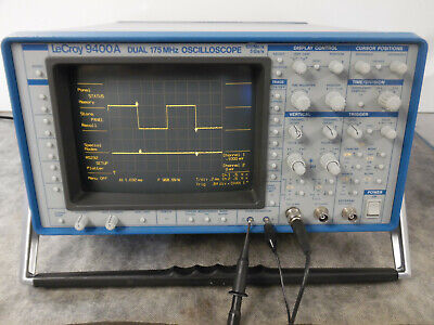 Lecroy 9400a 2 Channel Oscilloscope 175mhz 100 Mss - 5 Gss With X1x10 Probe