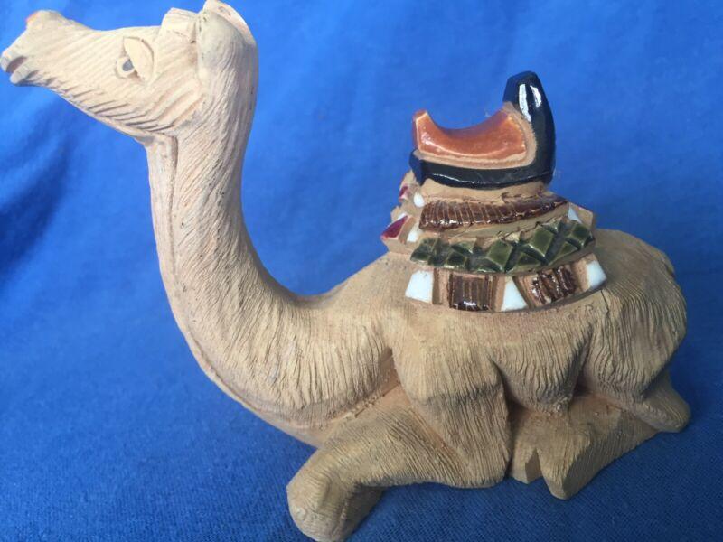 Artesania Rinconada Camel Sitting Ceramic Clay Vintage Handcrafted Exc Signed