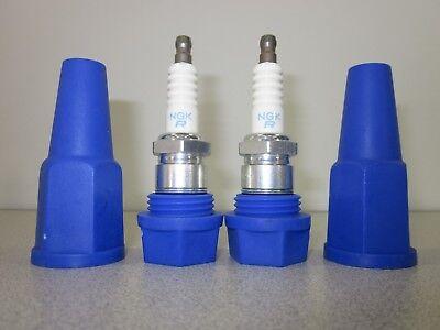 Spare Spark Plug Holder Protector Case Set of 2 Motorcycle ATV ATC (Spark Plug Holder)