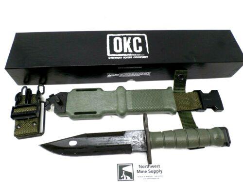 Genuine USGI Army Issue M9 Bayonet w/ Sheath, Ontario Knife Co. OKC *NEW* Green