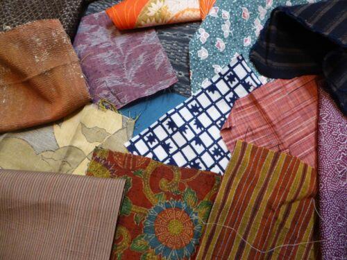 Japanese  Kimono Fabric, Small Scrap Remnants, 4 oz Bundle