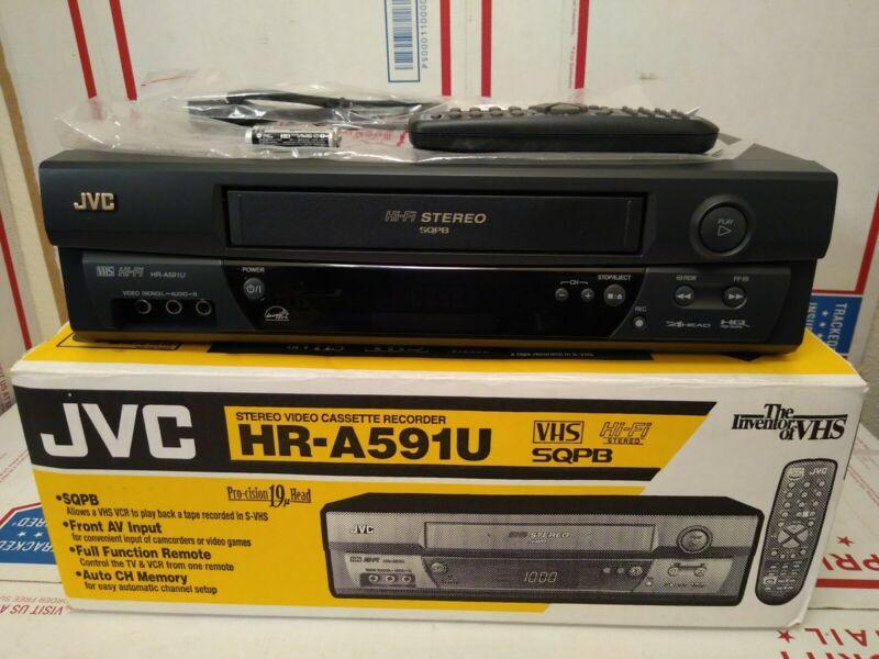 JVC HR-A591U VHS Player 4 Head Hi Fi Stereo VCR Video Cassette Recorder Open Box