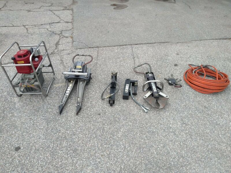Complete 7 Piece Hurst Jaws of Life Hydraulic Rescue System