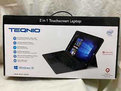 "NIB Epik Learning Teqnio 11.6"" FHD 2 in 1 Touchscreen Laptop 4 GB Ram Black"