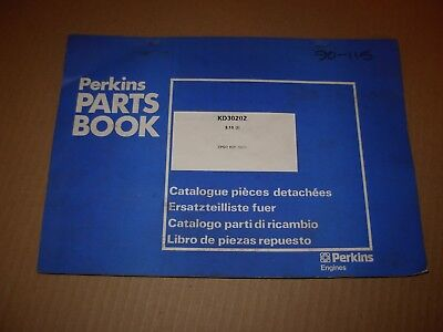 Perkins 3.10 Kd30202 3 Cly Diesel Engine Parts Manual Issued 1988
