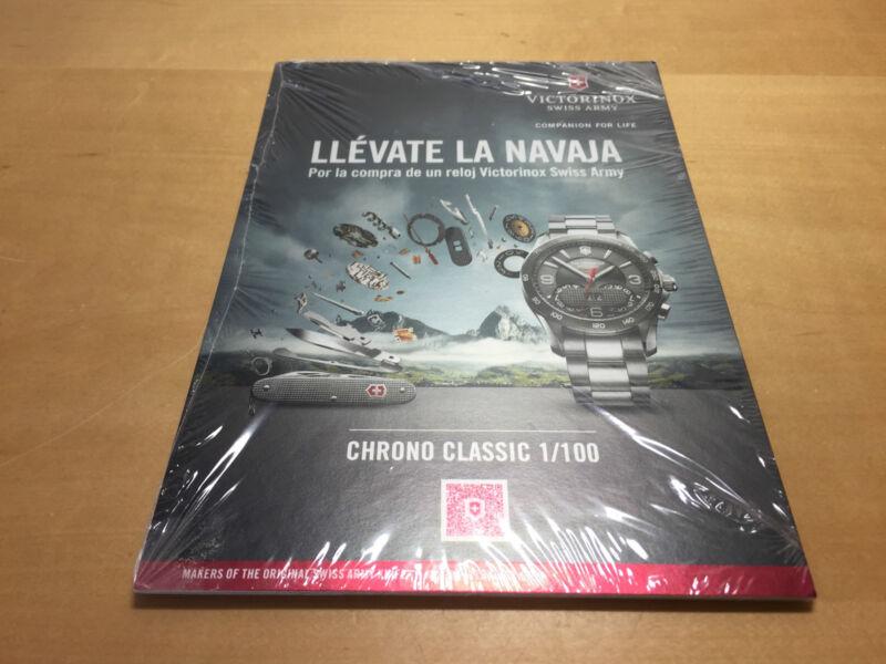 New - Display Plate Plaque Display Victorinox - Cardboard Paper - Spanish