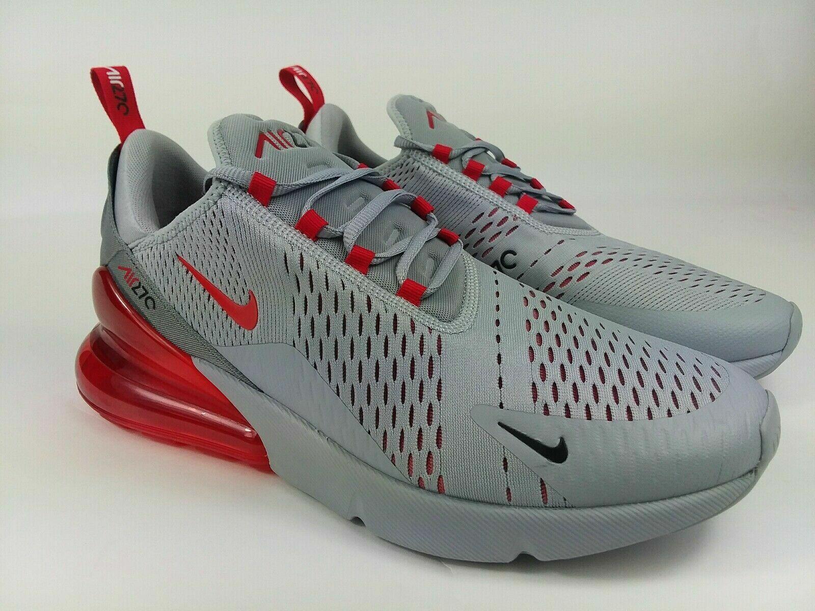 air max 270 gris con rojo