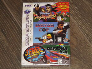 NEW Sega Saturn 3 Pack Virtua Fighter 2 Virtua Cop Daytona USA