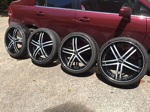 4 x Versus Luxury Wheels 22 inch with 4 near new tyres Portland Glenelg Area Preview