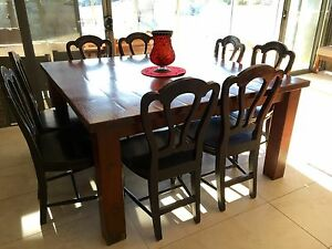 Not your average table- Unique hand crafted  dining table  + chairs Caloundra Caloundra Area Preview