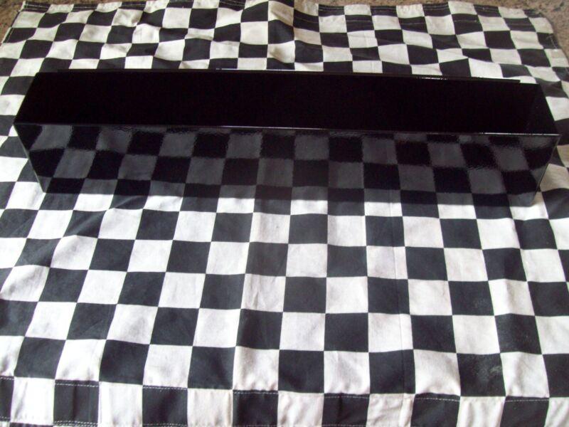"NEW 16"" GLOSS BLACK TOOL BOX AEROSOL SPRAY CAN HOLDER snap 2 use- hang on side"