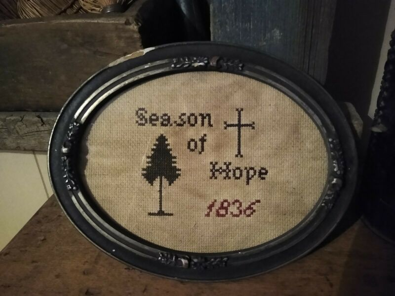 Framed Season of Hope sampler