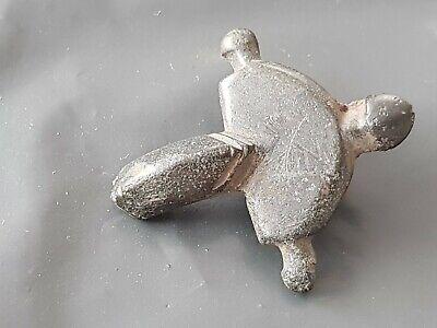 Superb Roman bronze/iron Cruciform brooch part. Please read description. L138w