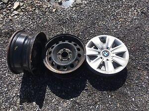 4 Jantes acier 16 pouces BMW  3 cap de roues