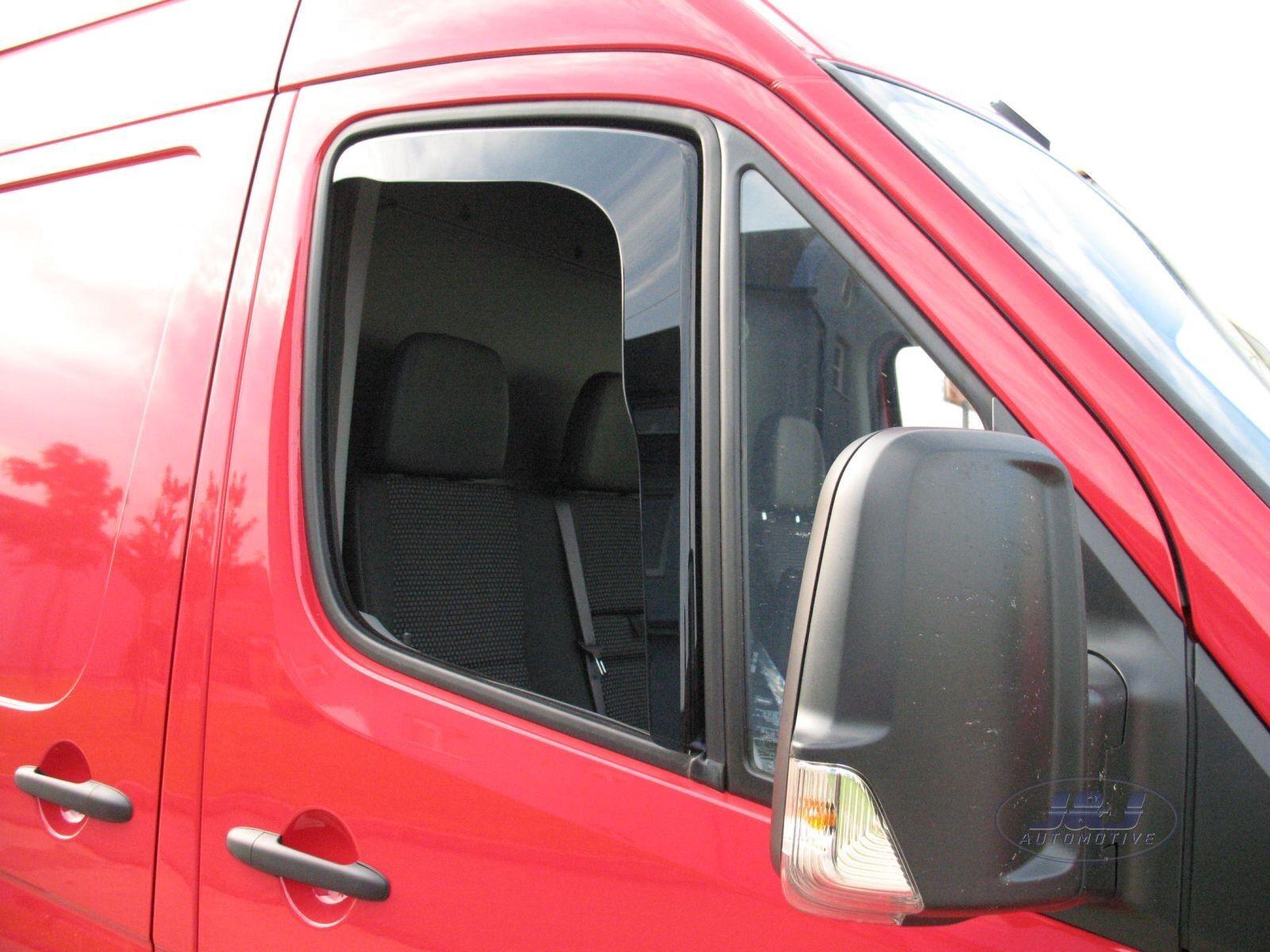 mercedes sprinter 3 portes 2006 pr s deflecteurs d 39 air d flecteurs de vent 2pcs ebay. Black Bedroom Furniture Sets. Home Design Ideas
