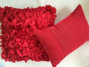 Red Cushion set of two - NEW Coorparoo Brisbane South East Preview