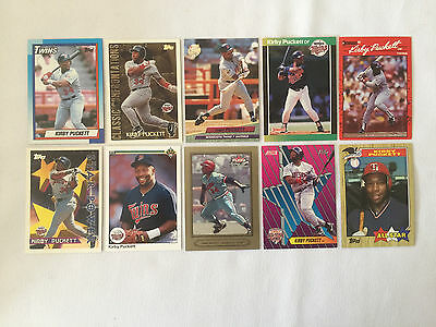 Lot of 10 KIRBY PUCKETT Assorted Baseball Cards - Lot #2