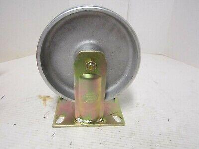 Cast Iron Rigid Plate Caster Wheel 1750 Lb 8 Diameter X 2-12 Wide New