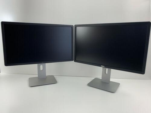 """Lot of 2 Dell P2314HC Monitor 23"""" Full HD LED 1080p USB DP DVI VGA P2314H"""