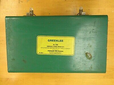 Greenlee 7306 Hydraulic Knock Out Punch Set 767 Pump 746 Ram Plus Extras