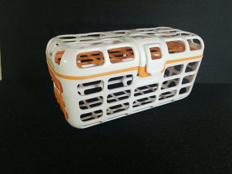 Munchkin High Capacity Deluxe Dishwasher Basket Bottle Nipples Nuk Orange White