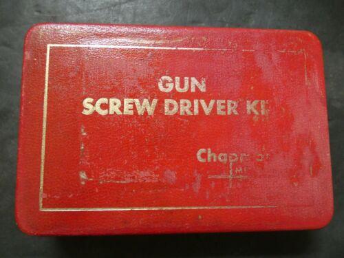 VINTAGE CHAPMAN GUN SCREW DRIVER SCREWDRIVER KIT