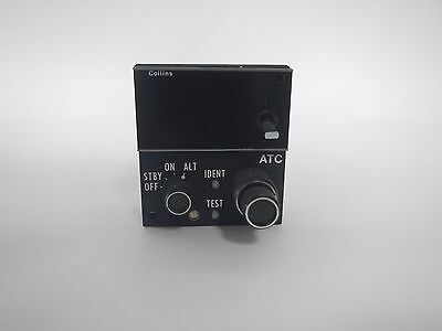COLLINS AIRCRAFT PART CTL-92 ATC-TRANSPONDER CONTROL UNIT (S/N-23RX)