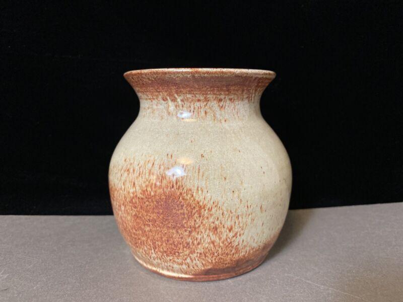 Olive Cottier Pine Ridge Sioux Dakota Pottery White Glaze Red Clay Vase