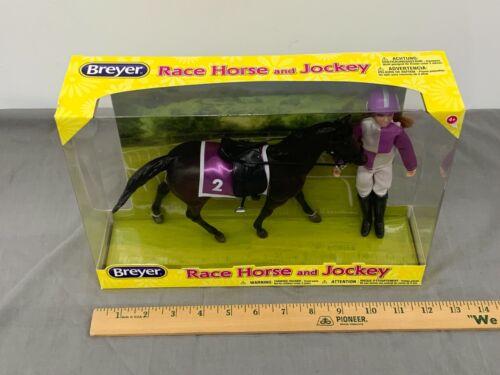 BREYER Race Horse and Jockey #62037 Classic Rider Horse SET NIB