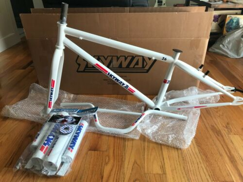 """2021 Skyway TA 26"""" Bmx Frame, Fork, Cruiser Bars, 2xPadsets, and Donuts, NICE!"""