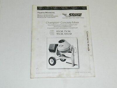 Stone Toro Concrete Mixer Operators Manual - 65cm 75cm 95cm 105cm