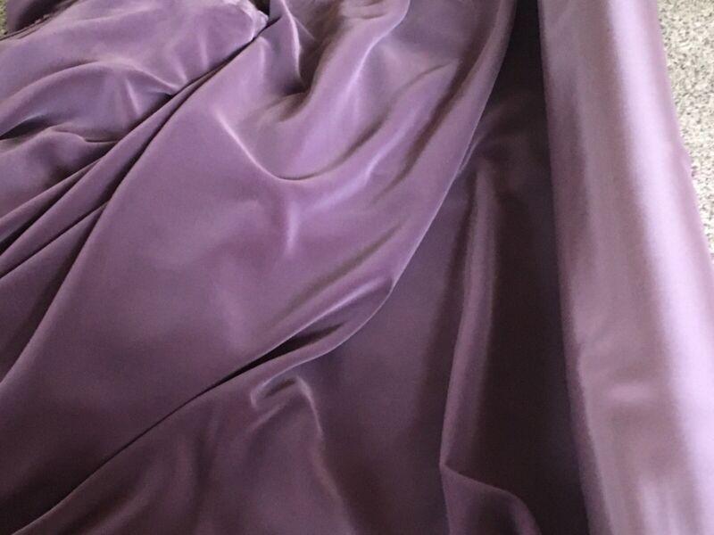 """Antique Velvet France Victorian Purple Fabric Boulevant Direct Pile 50"""" W X 36"""""""