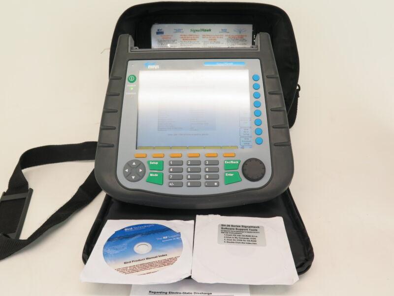 Bird Signalhawk Sh-36s Portable Signal Spectrum Analyzer 100 Khz To 3.6 Ghz