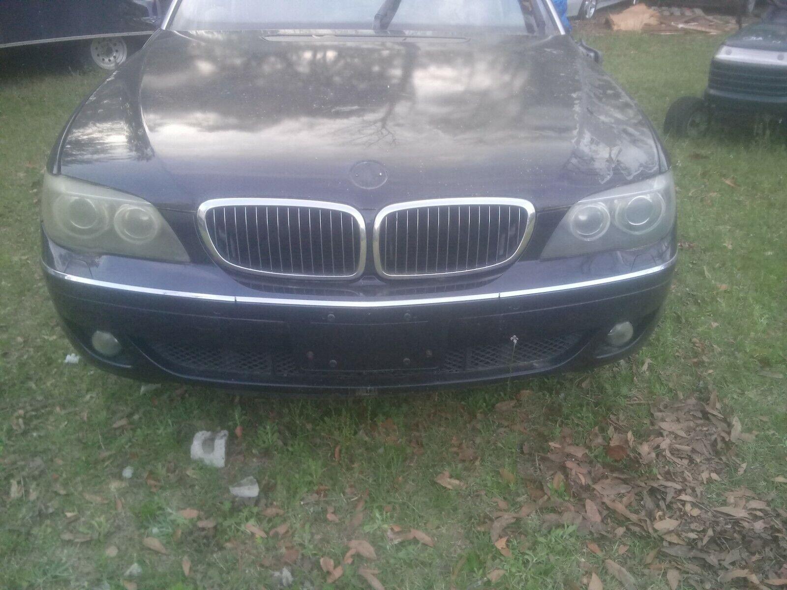 '06-08 BMW 750i iL E65 E66 Complete Front Bumper Cover w/Fog Lights, Dark Blue