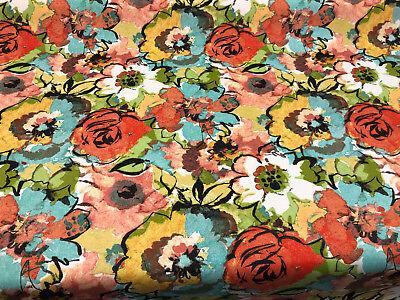 Mill Creek Indoor/Outdoor Graham Fresco Summer Flower Fabric by the yard  ()