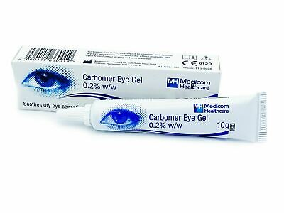 3X Carbomer Eye Gel 10g tubes Viscotears Equivalent Dry Eyes Medicom Healthcare