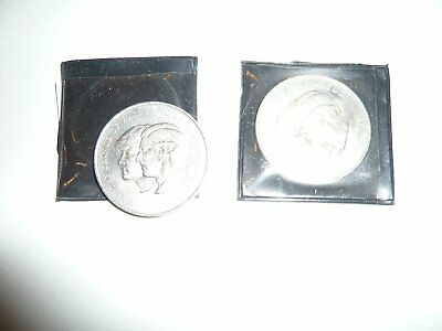 Silver 1981- Prince of Wales and Lady Diana Spencer Royal Wedding Coin x 2
