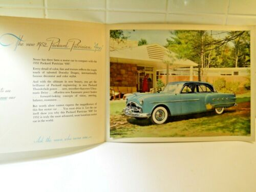 1952 Packard 400 Patrician Color Photo in Brochure ORIGINAL