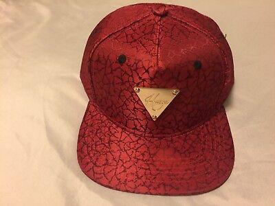 Hater Snapback Jacquard Burst Crack Red Fashion HipHop Hat Cap