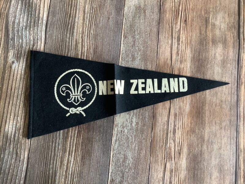 1960s Boy Scout New Zealand Pennant