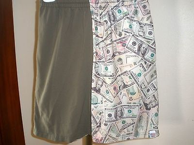 Youth Territory Shorts Lacrosse LAX Shorts Taupe & Money Print Sz Medium