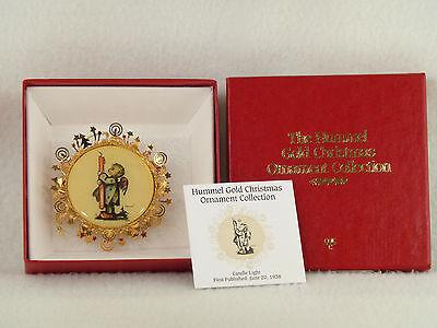 Danbury Mint / Hummel Gold Christmas Ornament CANDLE LIGHT - Box (14)