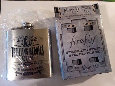 Rare Firefly Serenity Jayne Cobb Stainless Steel 6oz Hip Flask Loot Crate QMx