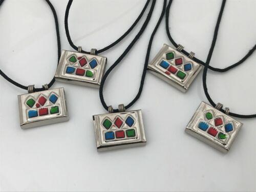 Taweez Pendant Silver Tone Religious Necklace Amulet Taweez Keeper Tabeej lot 5